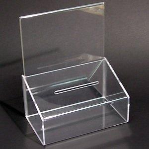 Akryl Box forslagsbox klar akryl med a5 horisontal holder